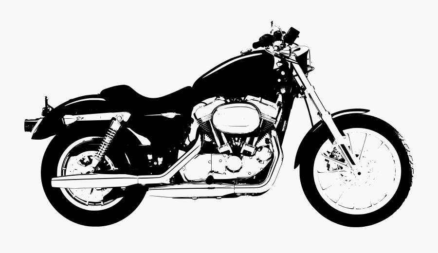 Clip Art Free Harley Davidson Clipart - Harley Davidson Motorcycle Silhouette Png, Transparent Clipart