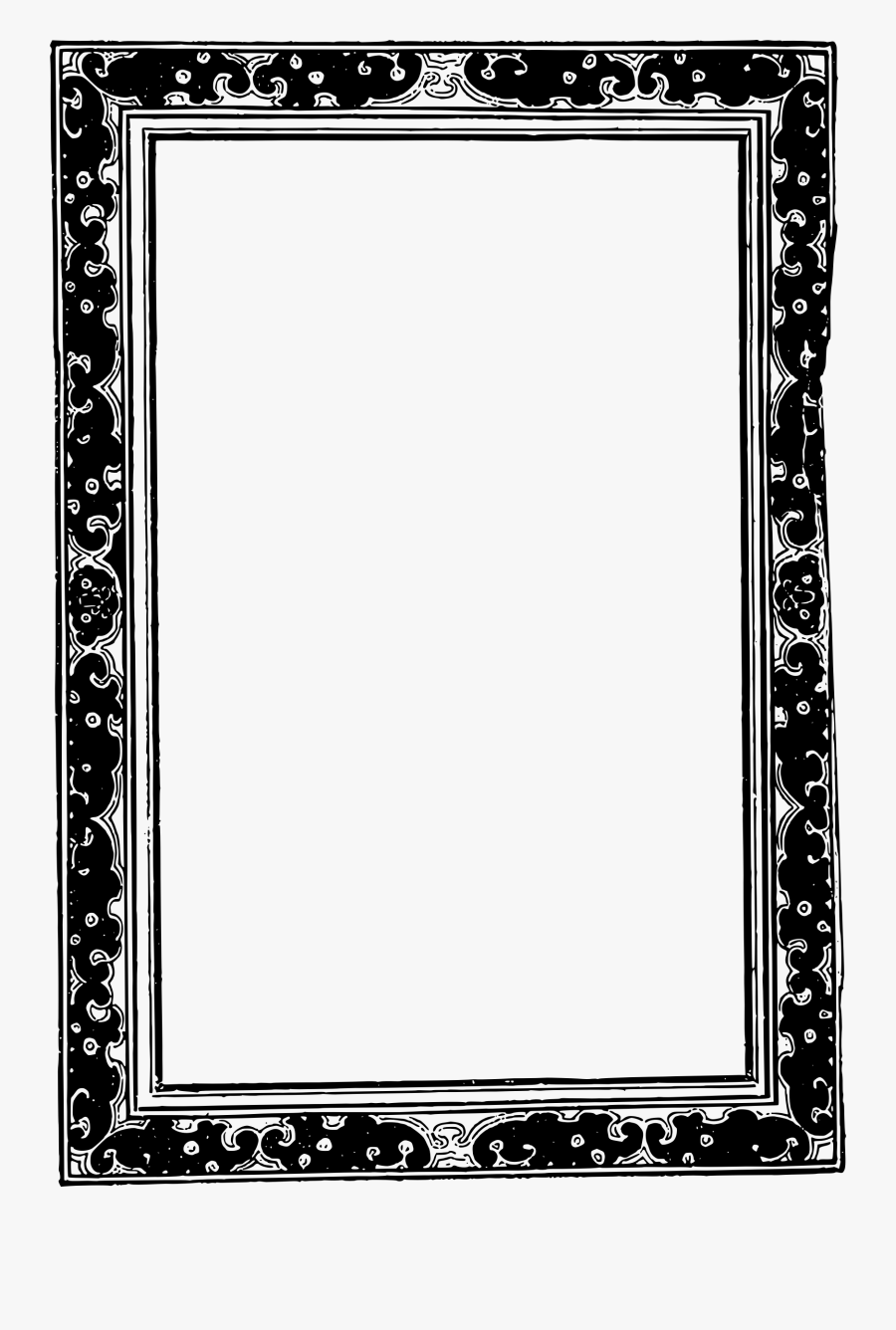 Asians Clipart Frame - Mirror Frame Vector Png, Transparent Clipart