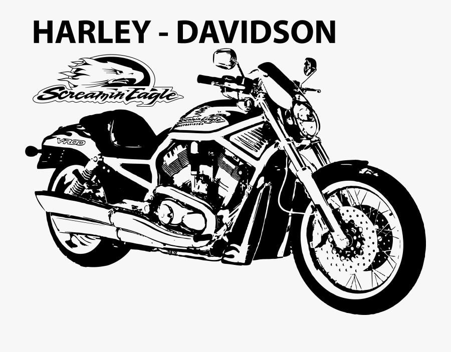 Harley Davidson V Rod Muscle Orange, Transparent Clipart