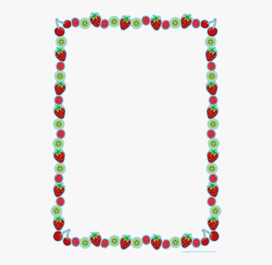 Fruit Clipart Frame - Transparent Christmas Lights Border, Transparent Clipart
