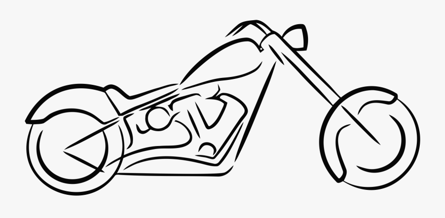 Motor Bike Drawing Easy, Transparent Clipart