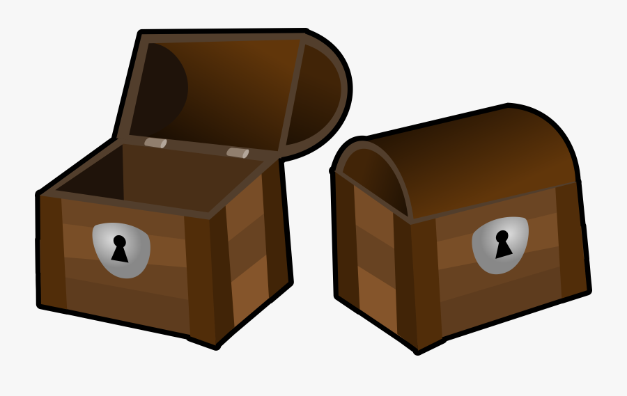 Box,cardboard,chest - Treasure Chest Open And Closed Clipart, Transparent Clipart