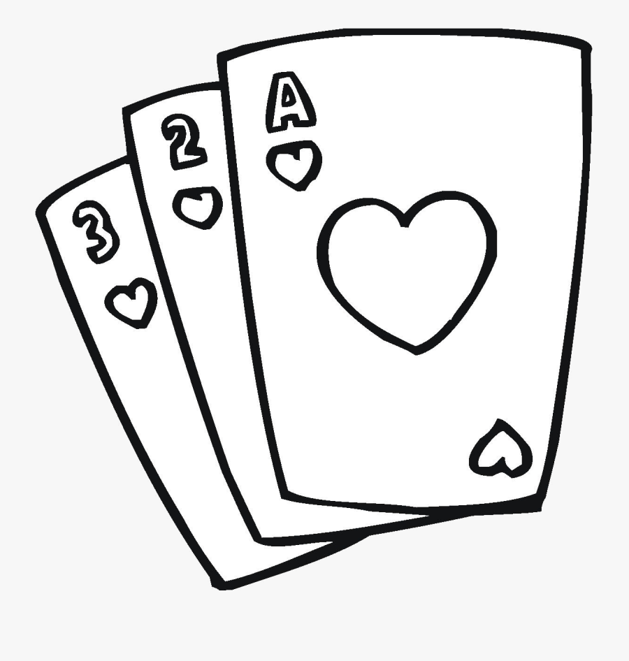 Playing Cards Collection Of Clipart Black And White - Deck Of Cards Clipart Black And White, Transparent Clipart