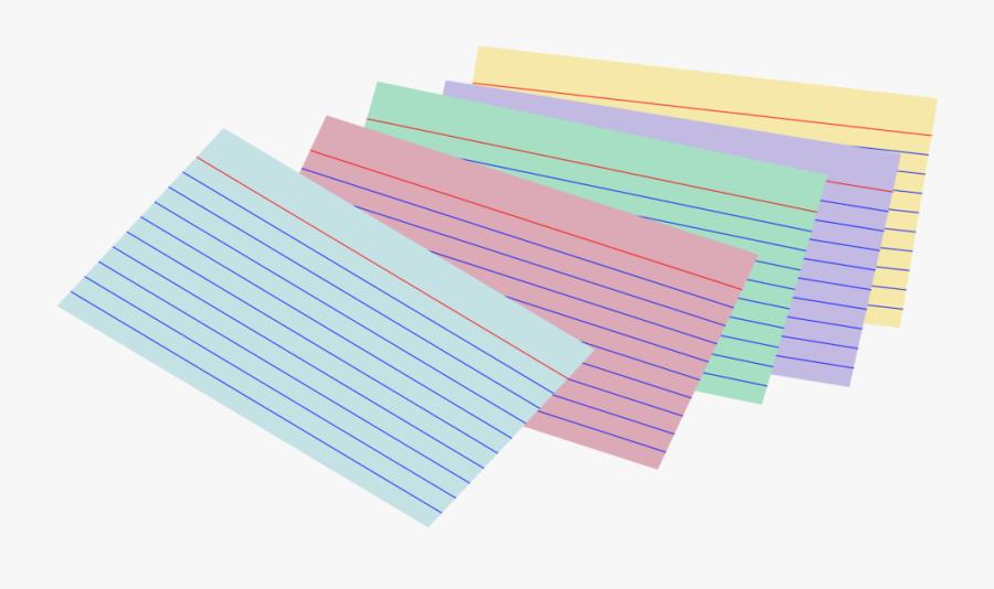 Stack Of Colored Index Cards - Transparent Index Card Clipart, Transparent Clipart
