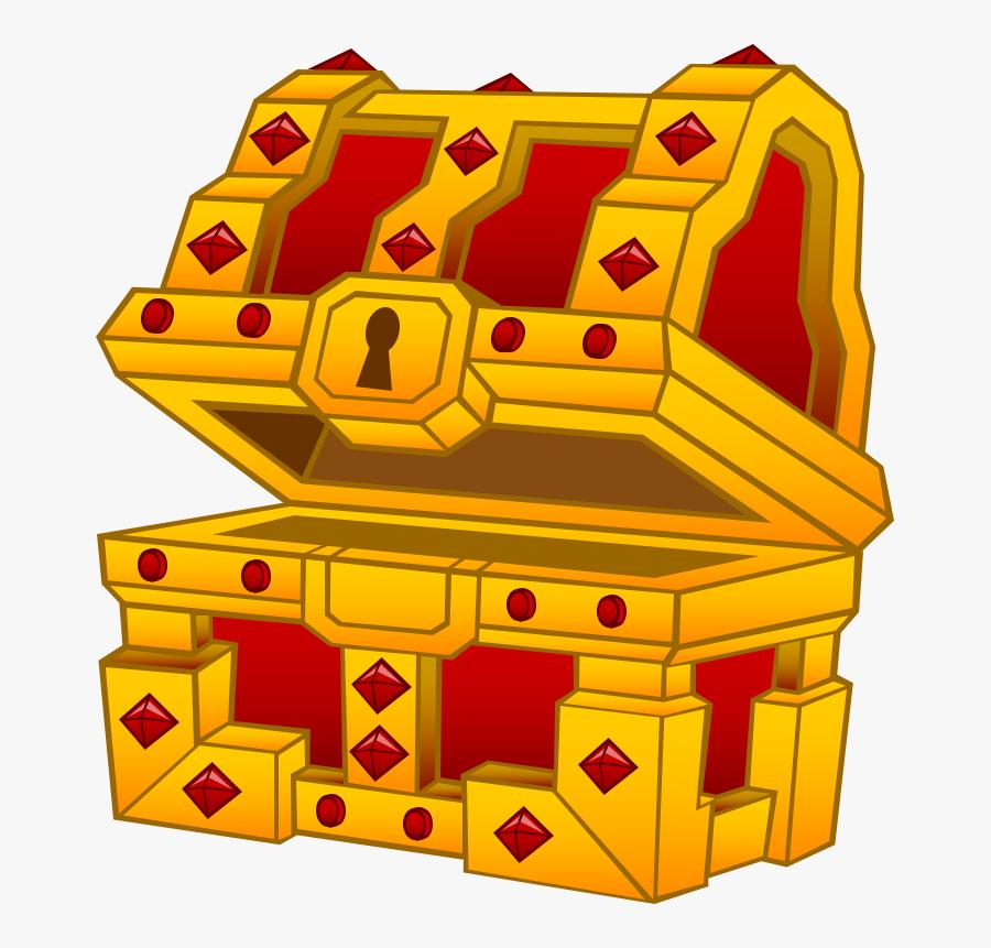Transparent Open Treasure Chest Clipart - صندوق كنز كرتون, Transparent Clipart