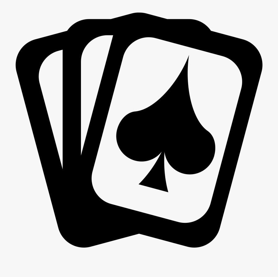 Clipart - Playing Cards - Cards Black And White Png, Transparent Clipart
