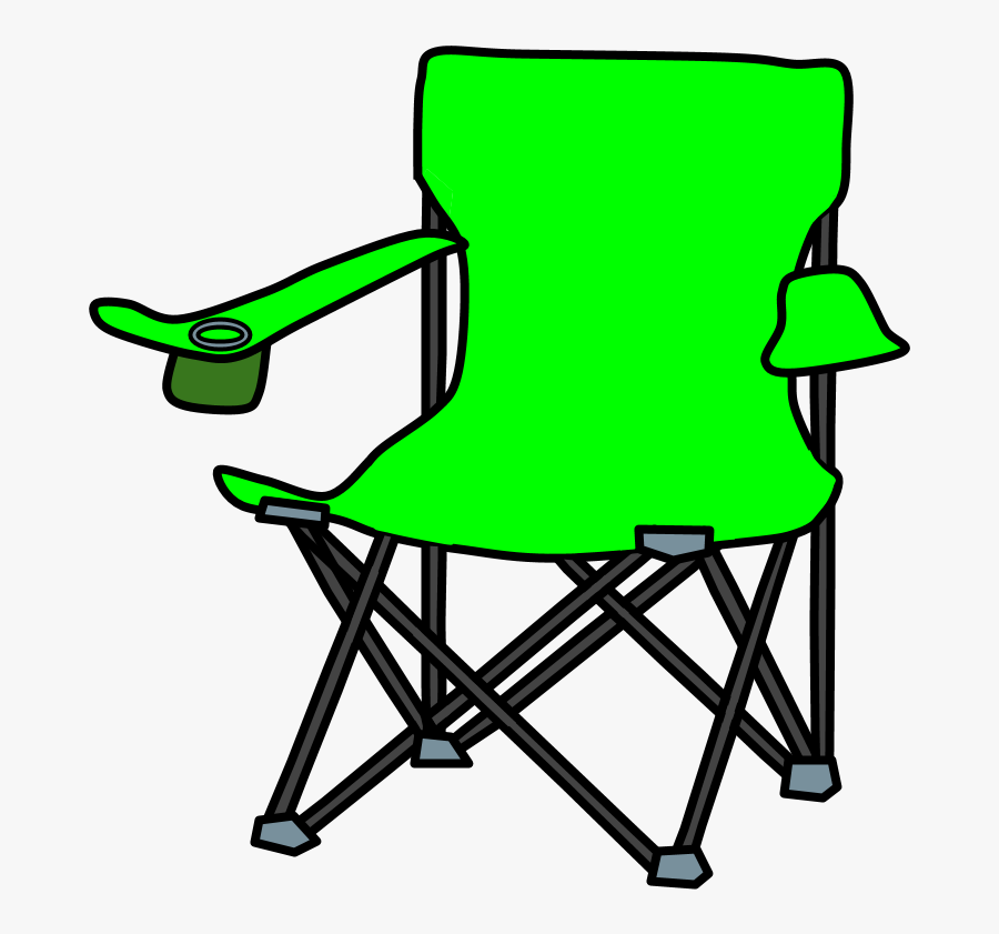 Transparent Folding Chair Clipart - Camping Chair Clipart, Transparent Clipart
