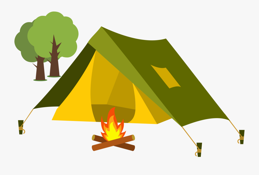 Clip Art Collection Of Free Camping - Cartoon Transparent Background Tent, Transparent Clipart