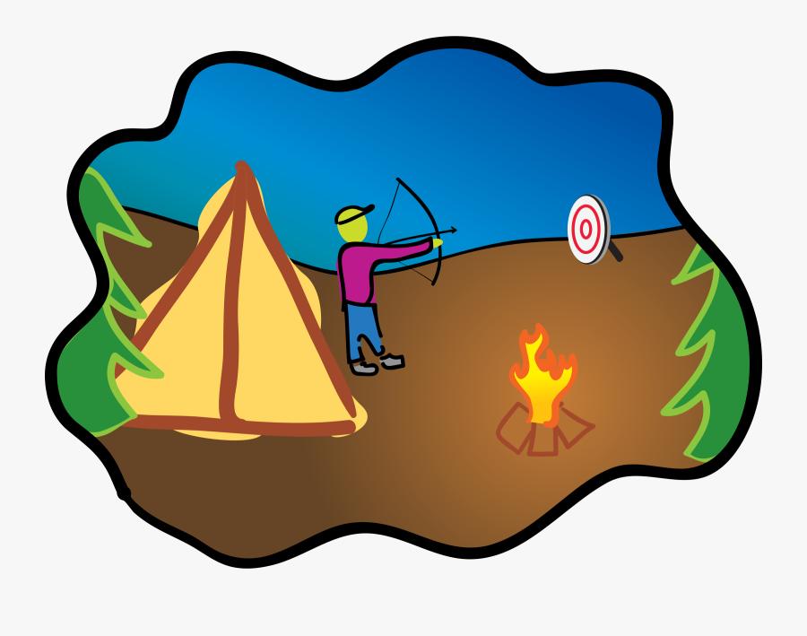 Transparent Archery Png - Camping Clip Art, Transparent Clipart