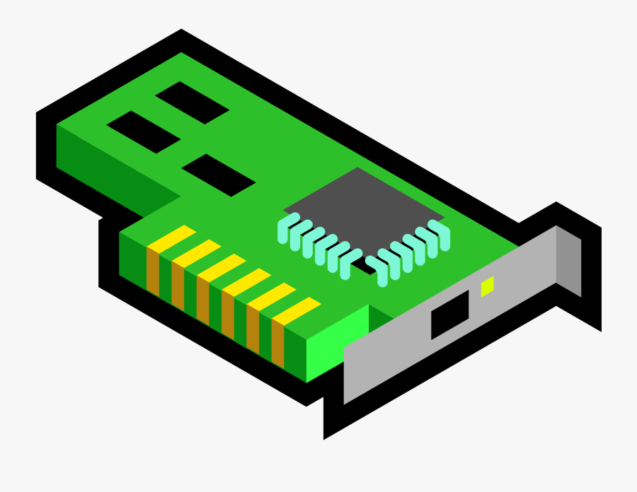 Angle,brand,electronics Accessory - Network Interface Card Cartoon, Transparent Clipart