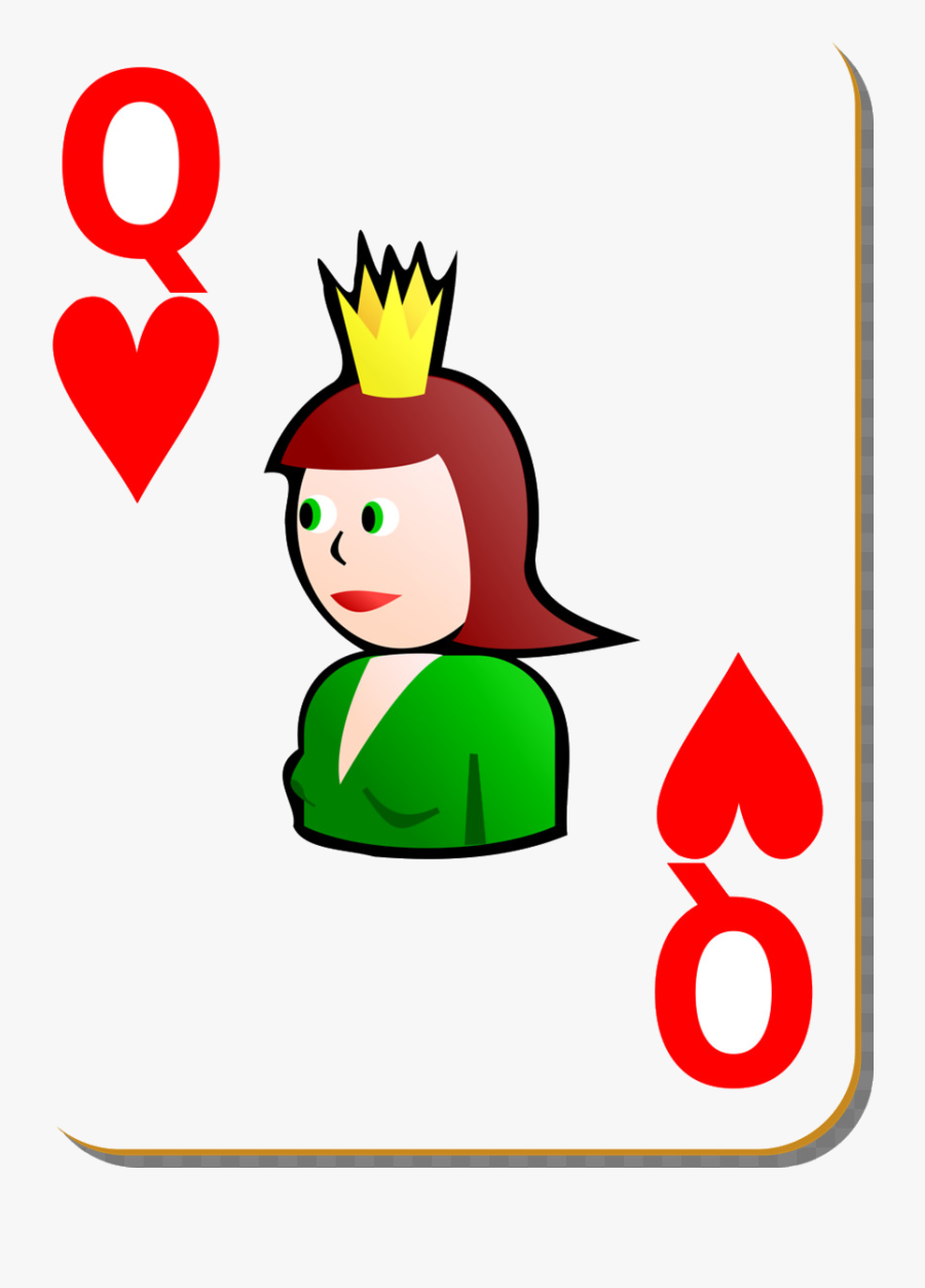 Playing Cards Clipart At Free For Personal Use Transparent - Queen Of Spade Playing Card Clipart, Transparent Clipart