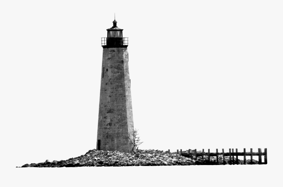 Lighthouse Black And White Monochrome Photography, Transparent Clipart