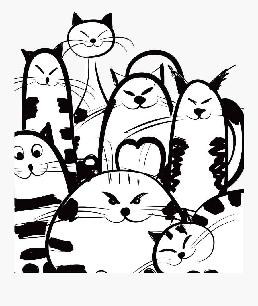 Cat Design Corporation Creative Stick Figure Share - Business Card Design Funny, Transparent Clipart