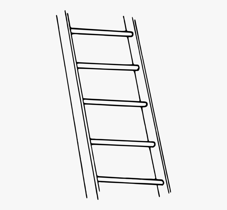 Collection Of Free Browned Clipart Ladder Download - Ladder Black And White Clipart Png, Transparent Clipart