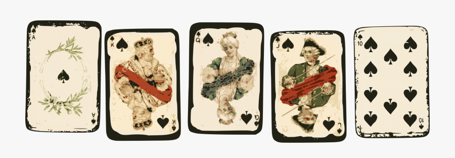 Recreation,mobile Phone Accessories,playing Card - Vintage Royal Playing Cards, Transparent Clipart