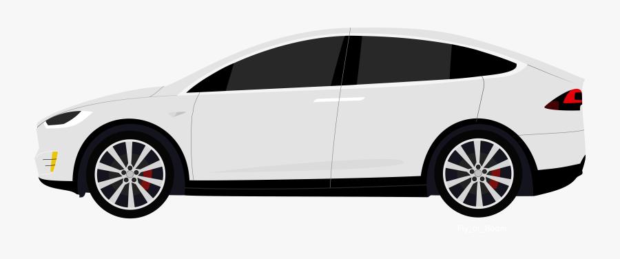 White Tesla Model X Clipart - Tesla Model X Png, Transparent Clipart
