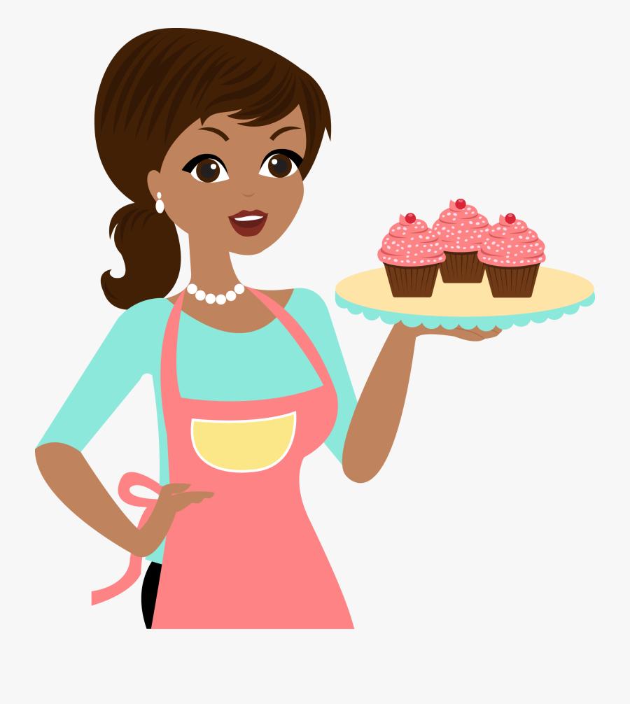 Cook Clipart Dessert Chef - Chefe De Cozinha Mulher Em Desenho Png, Transparent Clipart