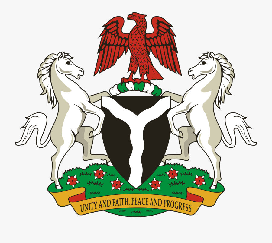 The Hierarchy Of Nigerian - Nigeria Coat Of Arms Vector, Transparent Clipart