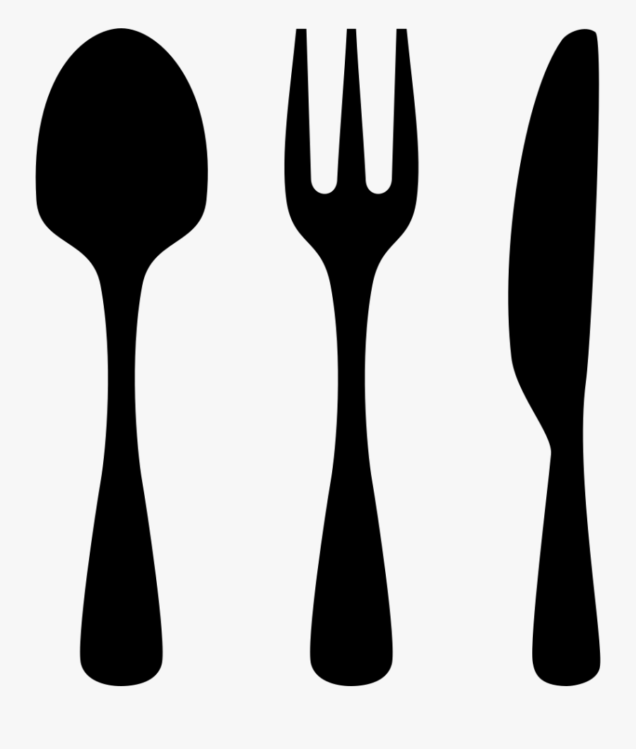 Art,kitchen Utensil,black And - Icon Knife And Fork, Transparent Clipart