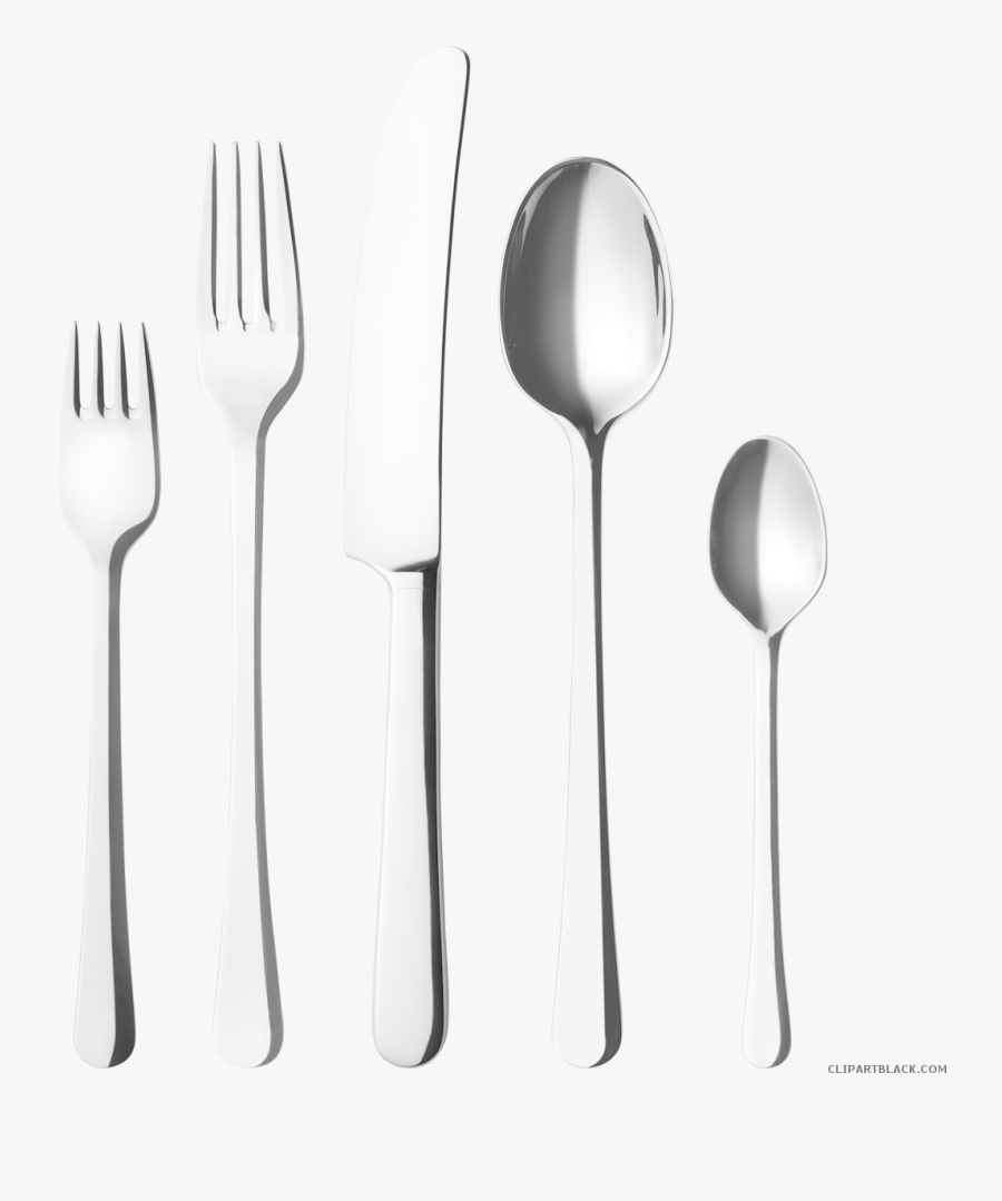 Fork Knife And Spoon Clipart - Transparent Fork And Spoon Png, Transparent Clipart