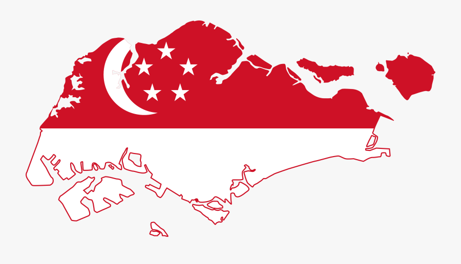 Singapore Island Clipart - Singapore Flag In Country, Transparent Clipart