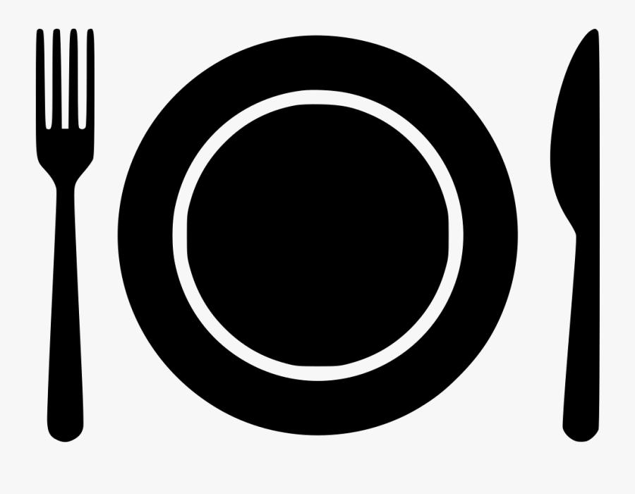 Plate Spoon - Transparent Fork Knife Plate Clipart, Transparent Clipart