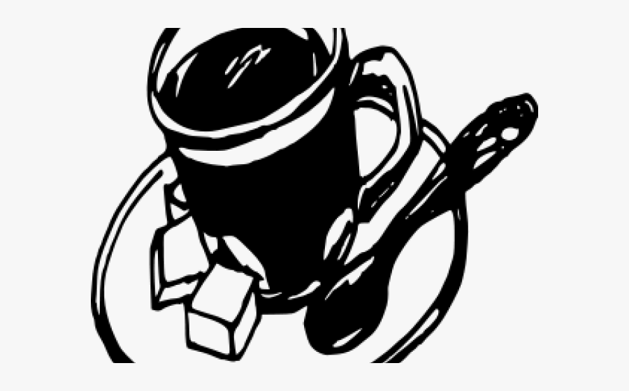 Spoon Clipart Line Drawing - Coffee Cup Drawing Png, Transparent Clipart