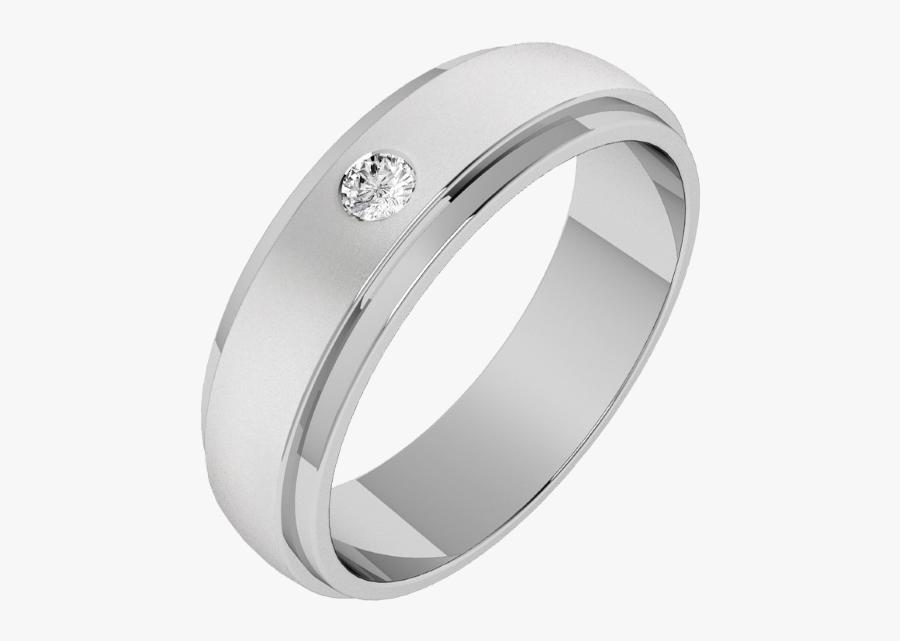 Clip Art Pladium Wedding Rings - Palladium Diamond Ring For Men, Transparent Clipart