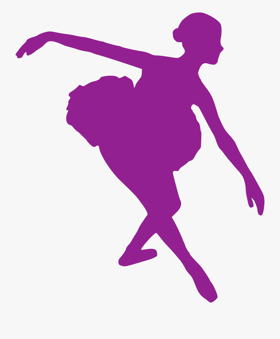 Silhouette Ballet Dancer Performing Arts Clip Art - Ballet Dancer Ballet Purple Silhouettes, Transparent Clipart