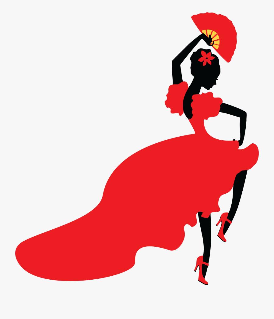 Spanish Flamenco Dancer Cartoon Free Transparent Clipart Clipartkey