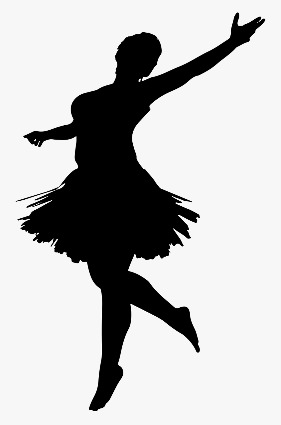 Ballerina Silhouette Dancing Girl Silhouette Png Free Transparent Clipart Clipartkey