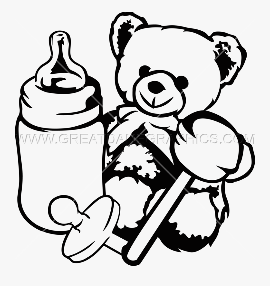 Transparent Black Baby Png - Baby Toys Clipart Black And White, Transparent Clipart
