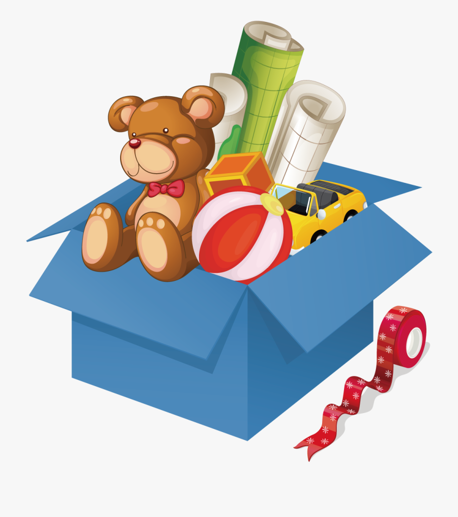 Toy Box Stock Photography Illustration - Girl With Toys Clipart, Transparent Clipart