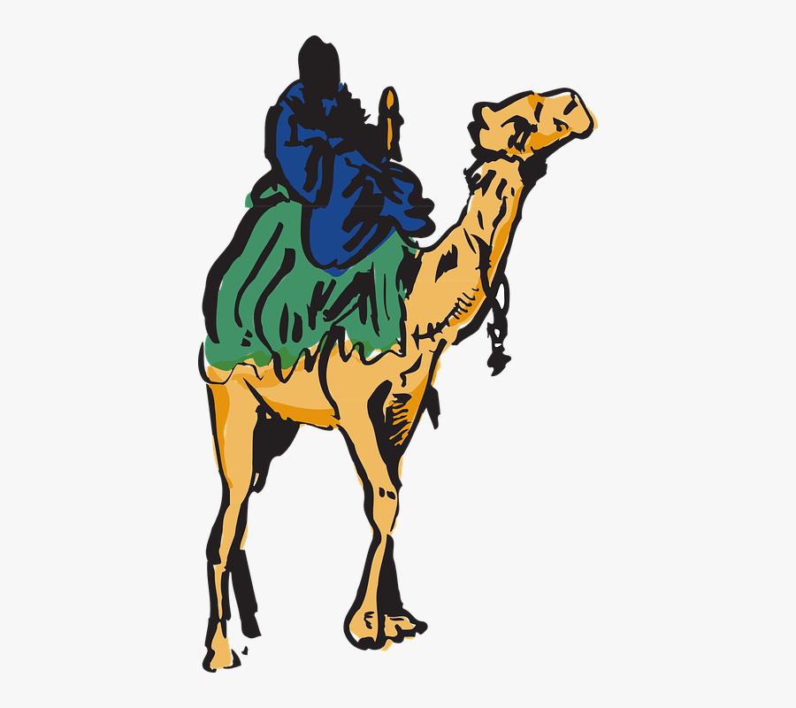 Camel, Man, Riding, Desert, Travel, Animal, Bedouin - Riding Camel Clipart Png, Transparent Clipart