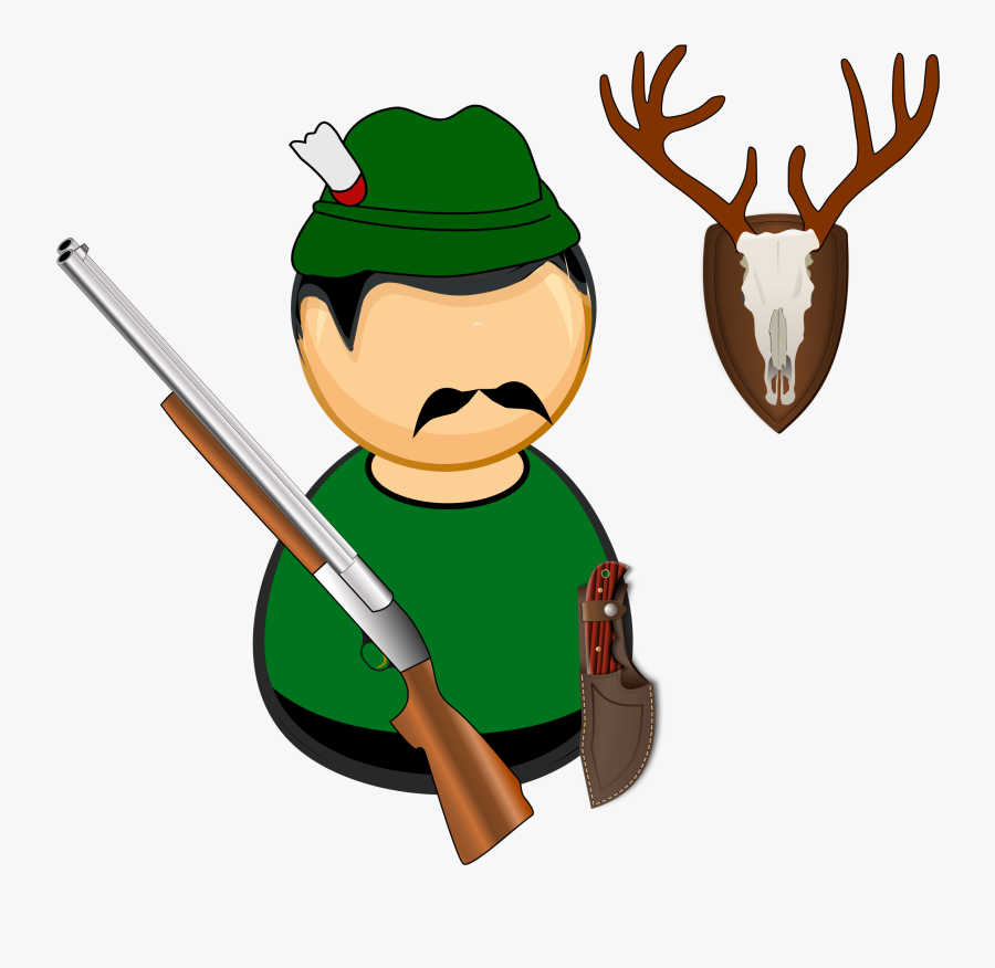 Antlers Comic Characters Deer Free Picture - Hunter Png Clipart, Transparent Clipart