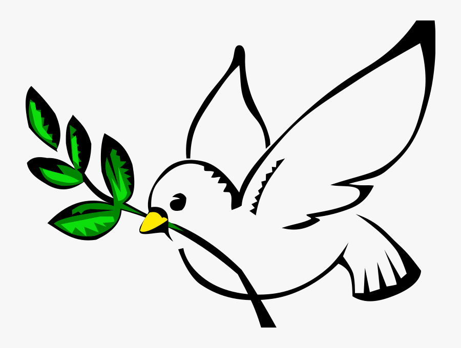 Transparent Holy Spirit Dove Png - Dove Olive Branch Clip Art, Transparent Clipart