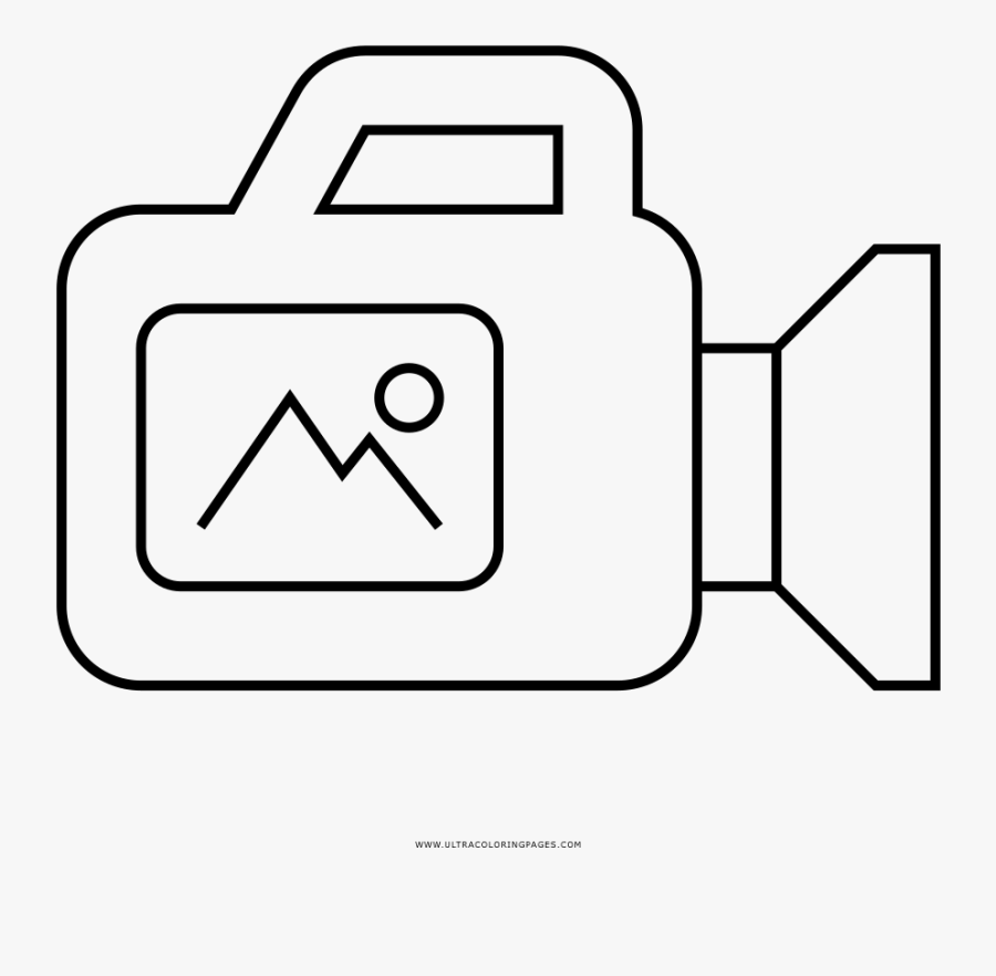 Video Camera Coloring Page - Dibujos De Video Camara, Transparent Clipart