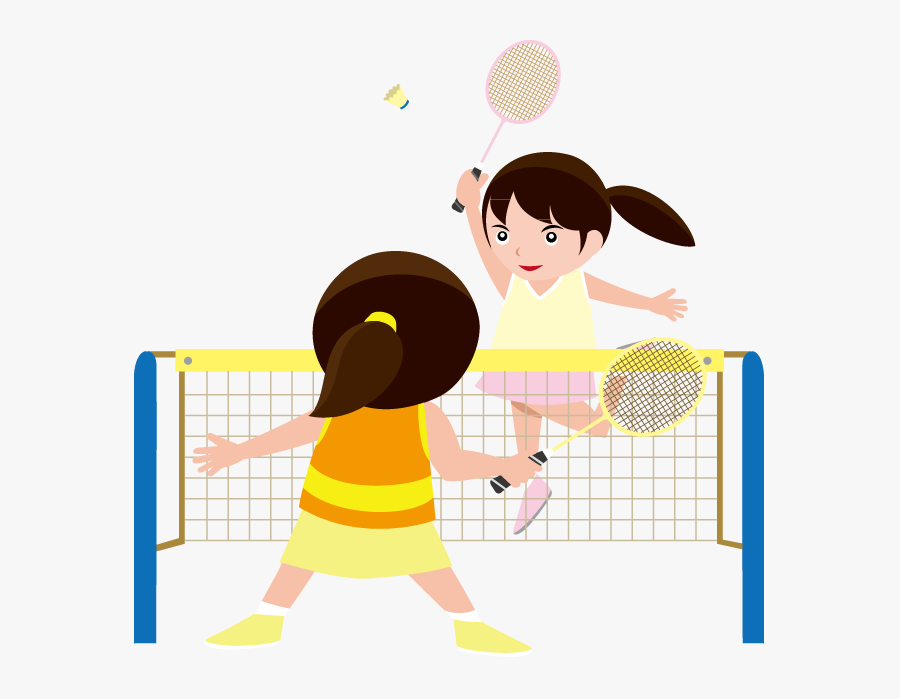 Thumb Image - Playing Badminton Clipart Girl, Transparent Clipart