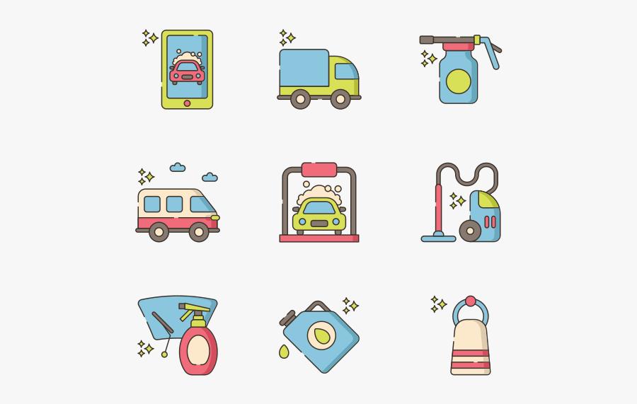 Car Wash - Wash Car Icon Colour, Transparent Clipart