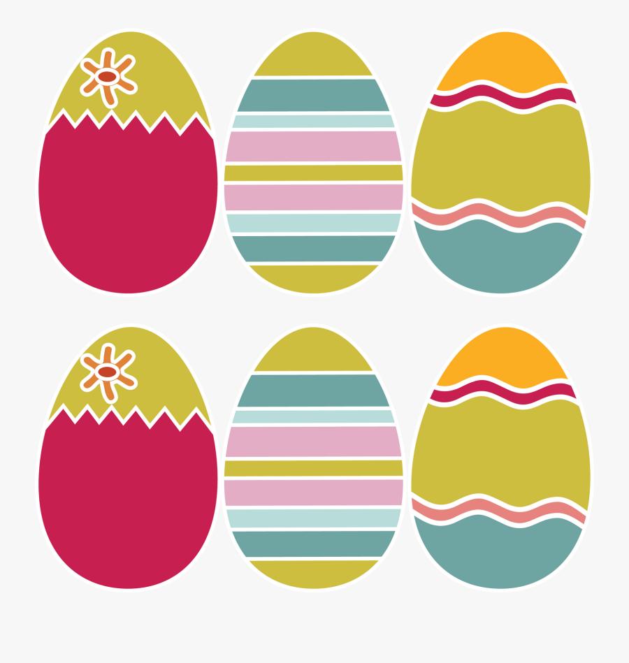 Clip Art Easter Egg Hunt Template - Colored Easter Egg Printable, Transparent Clipart