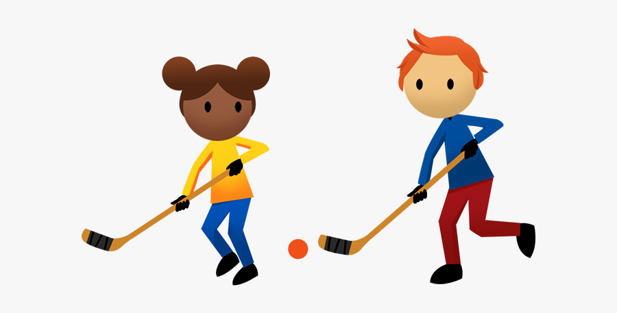 Activities - Kids Playing Hockey Clipart, Transparent Clipart