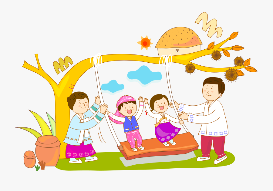 Play Clipart Nice Kid - Children Playing Swing In Clipart, Transparent Clipart
