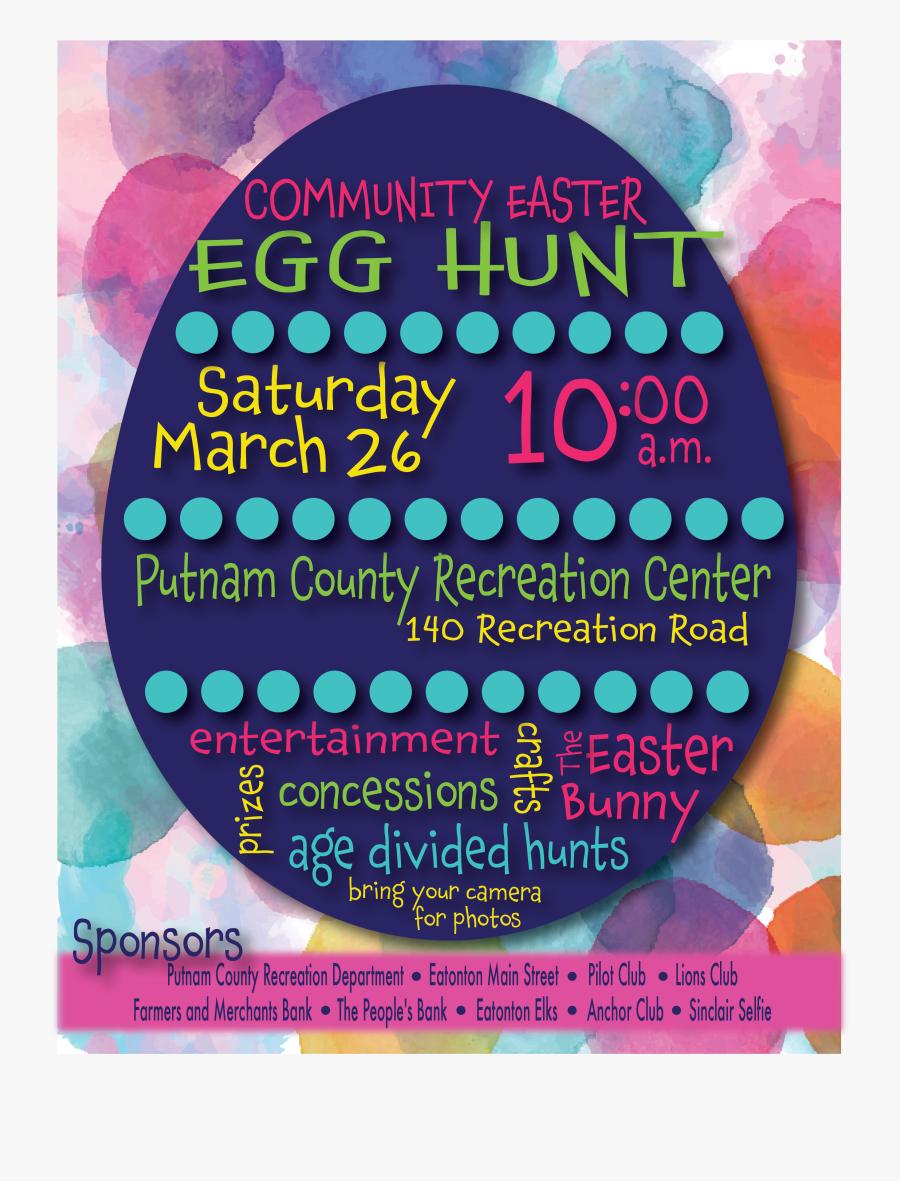 Clip Art Easter Egg Hunt Flyer Template - Circle, Transparent Clipart