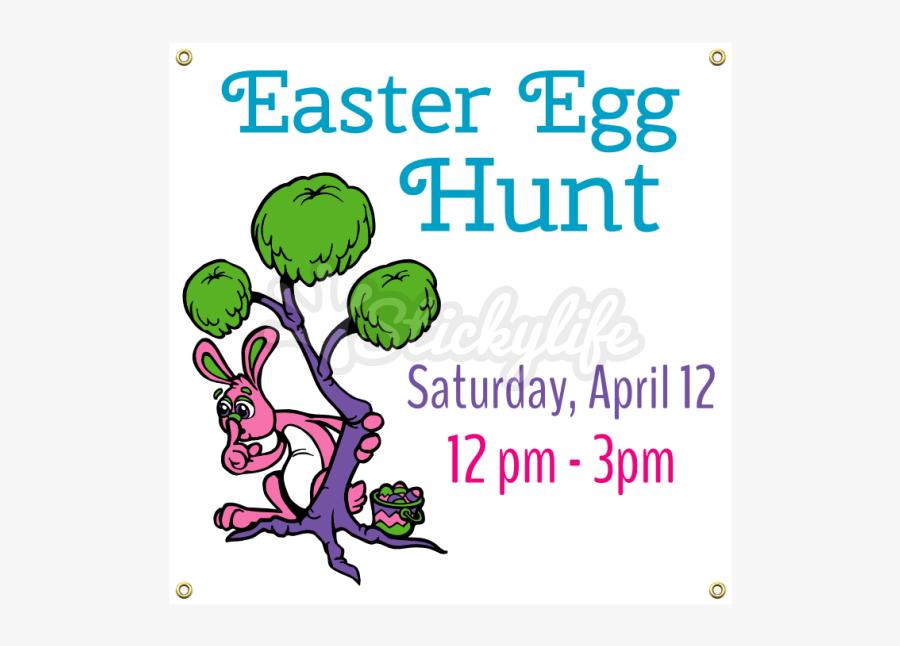 Clip Art Easter Egg Hunt Banner - Illustration, Transparent Clipart