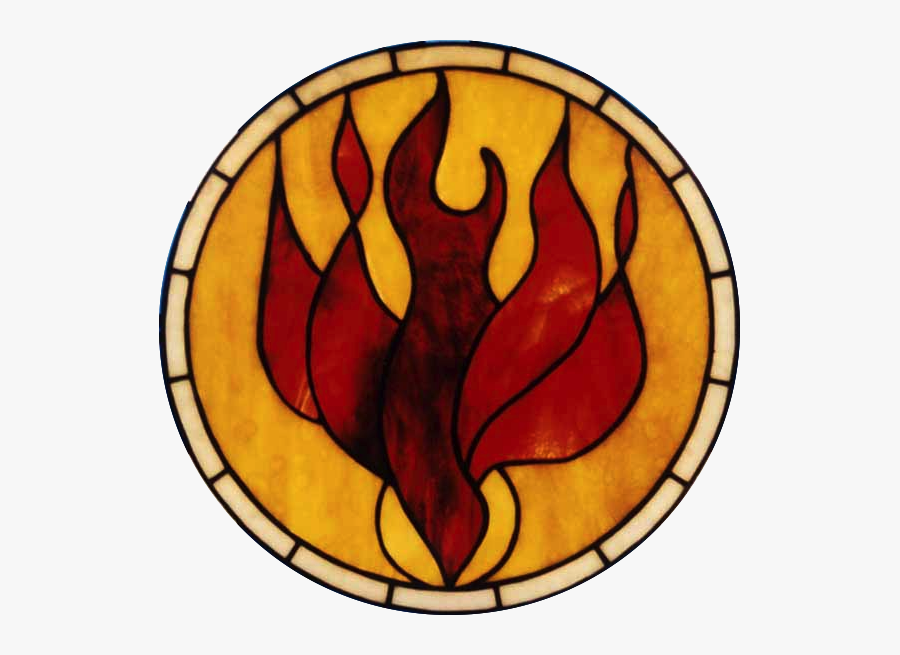 Bible Doves As Symbols - Holy Spirit Fire Dove Stained Glass Window, Transparent Clipart