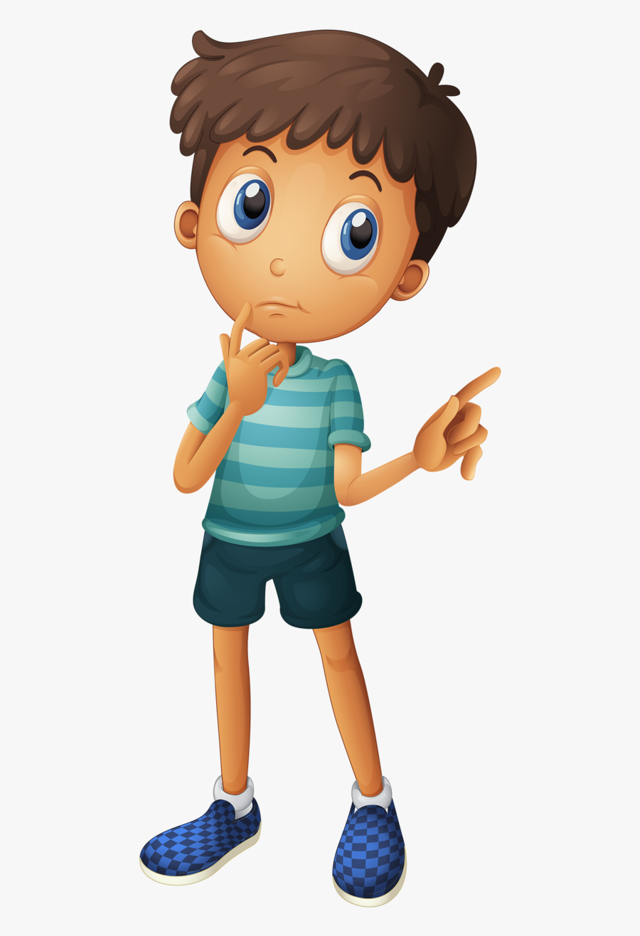 Kid Playing Football Clipart - Thinking Boy, Transparent Clipart