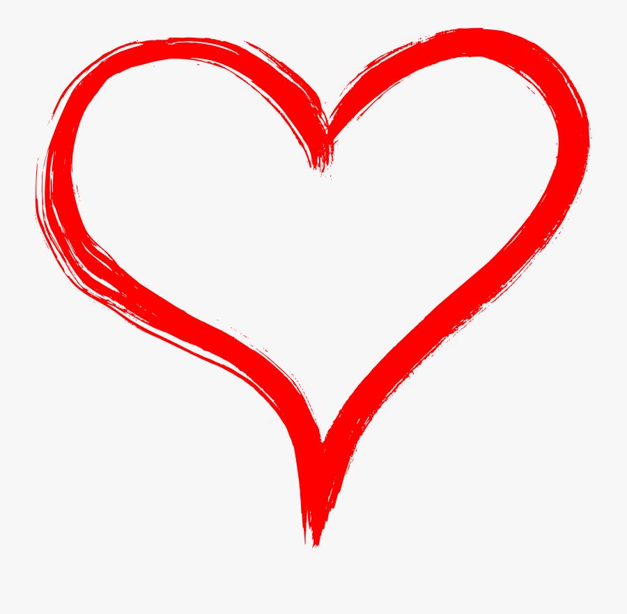 Heart Clipart Pencil - Hand Drawn Heart Transparent Background, Transparent Clipart