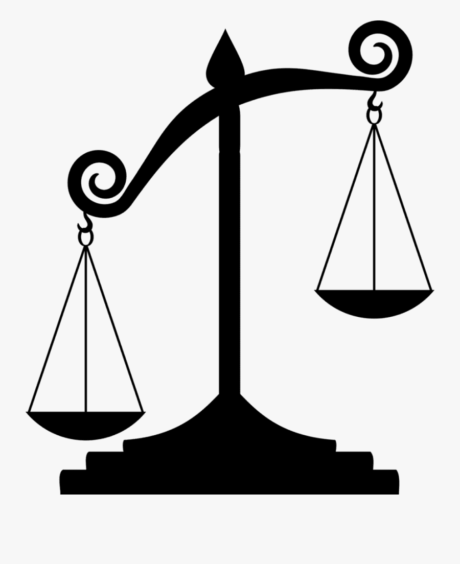 Character Vices - Scales Of Justice Unbalanced, Transparent Clipart
