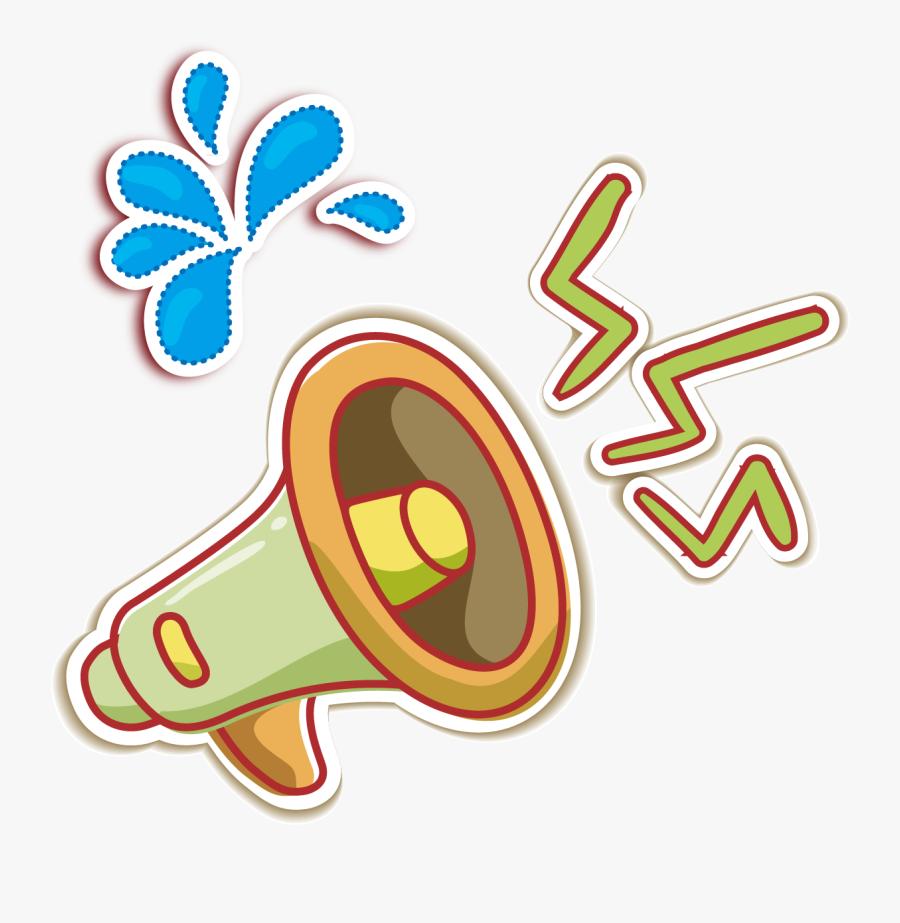 Megaphone Clipart Speaker - Loudspeaker Cartoon Png, Transparent Clipart