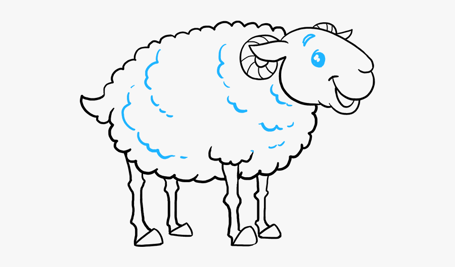 How To Draw A Sheep Really Easy Drawing Tutorial - Drawing, Transparent Clipart